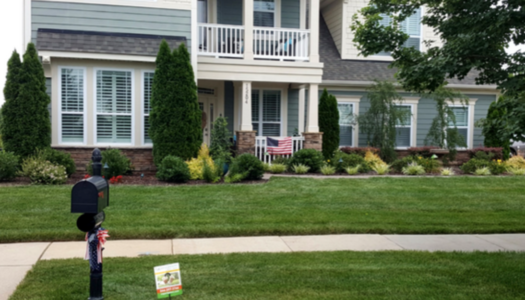 lovely Charlotte lawn and landscape with ExperiGreen sign