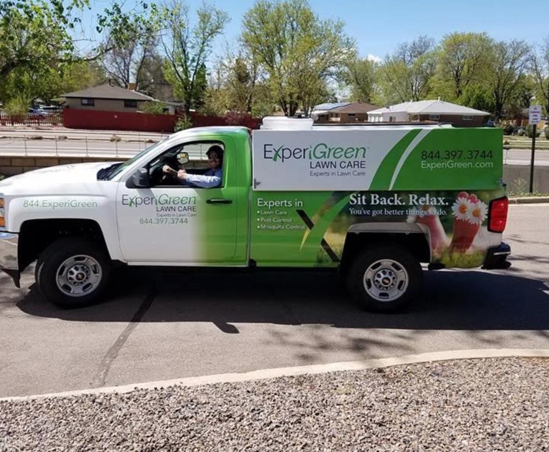 ExperiGreen truck in Denver neighborhoods