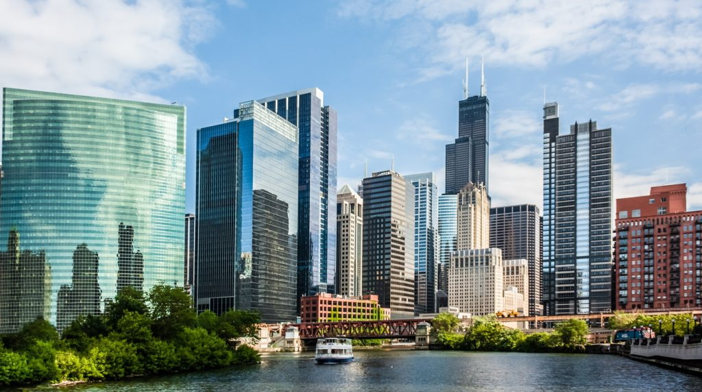 Chicago Illinois Skyline Experigreen