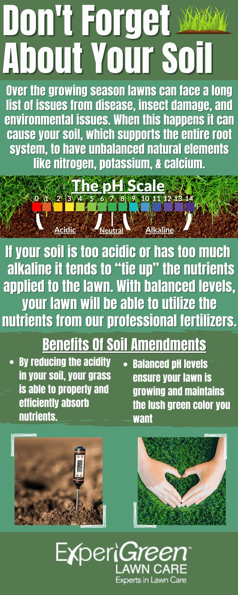 Lawn Soil Amendment Infographic