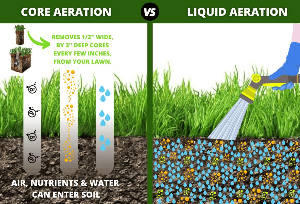 Liquid Lawn Aeration Vs. Core Aeration